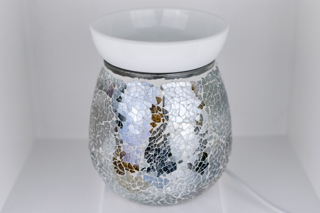 Silver Gold Mosaic Electric Wax Warmer by Aromatize