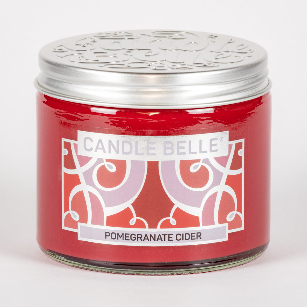 Candle Belle® Pomegranate Cider Fragranced Twin Wick Jar Candle 240g