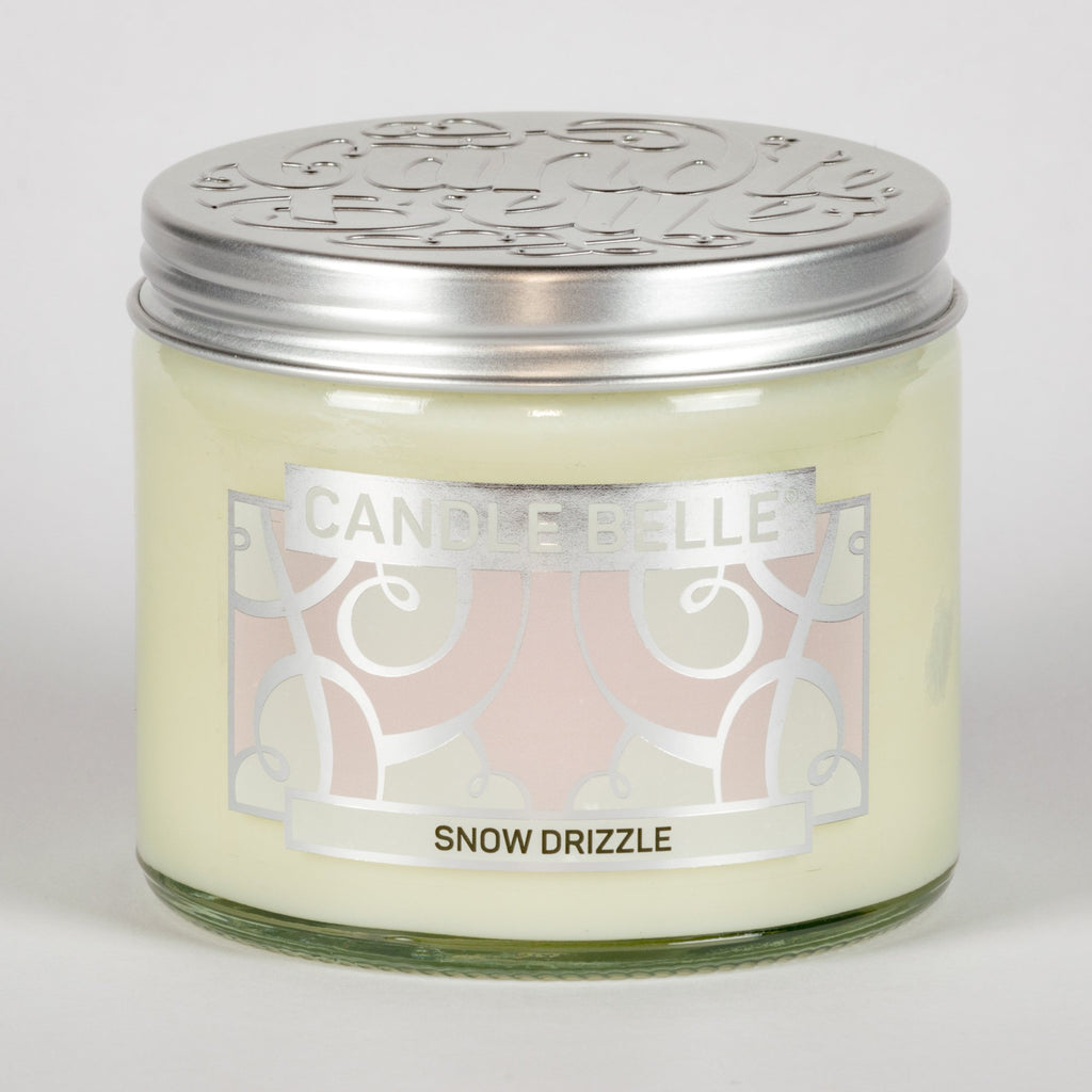 Candle Belle® Snow Drizzle Fragranced Twin Wick Jar Candle 240g