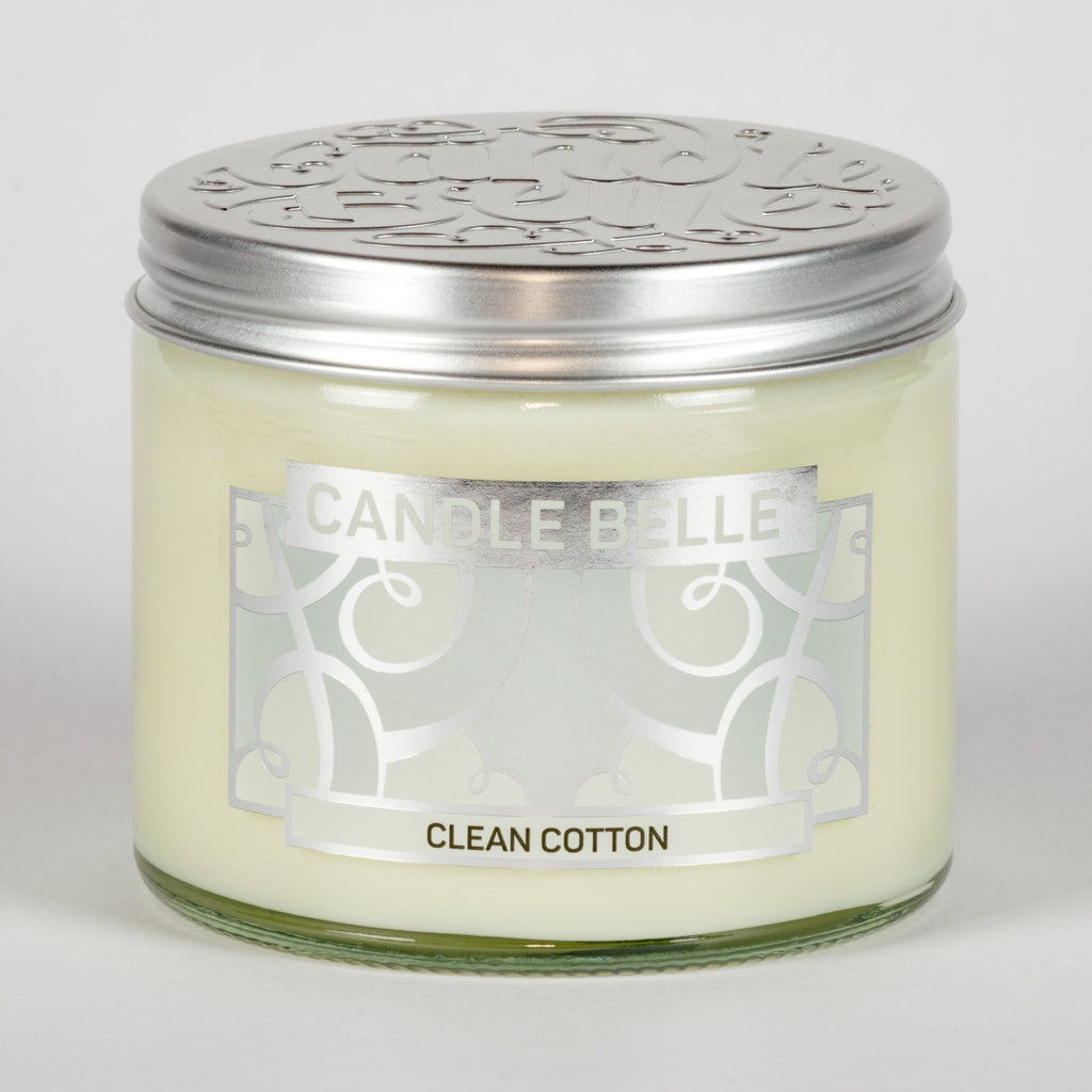 Candle Belle® Clean Cotton Fragranced Twin Wick Jar Candle 240g