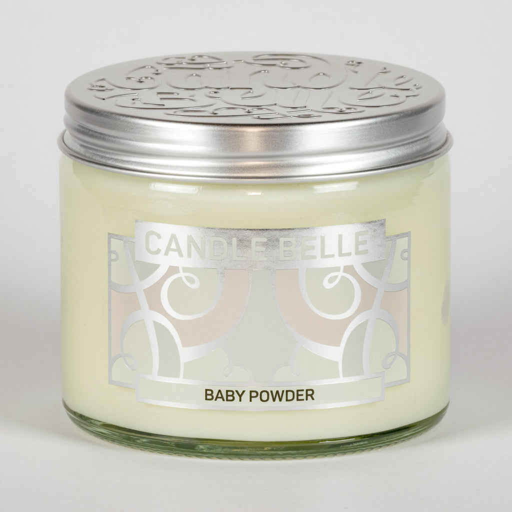 Candle Belle® Baby Powder Fragranced Twin Wick Jar Candle 240g