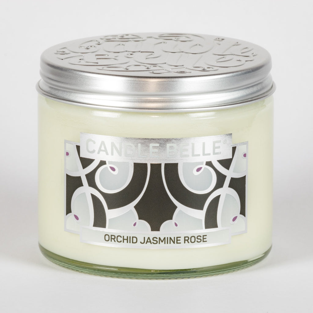 Candle Belle® DECO Orchid Jasmine Rose Fragranced Twin Wick Jar Candle 240g