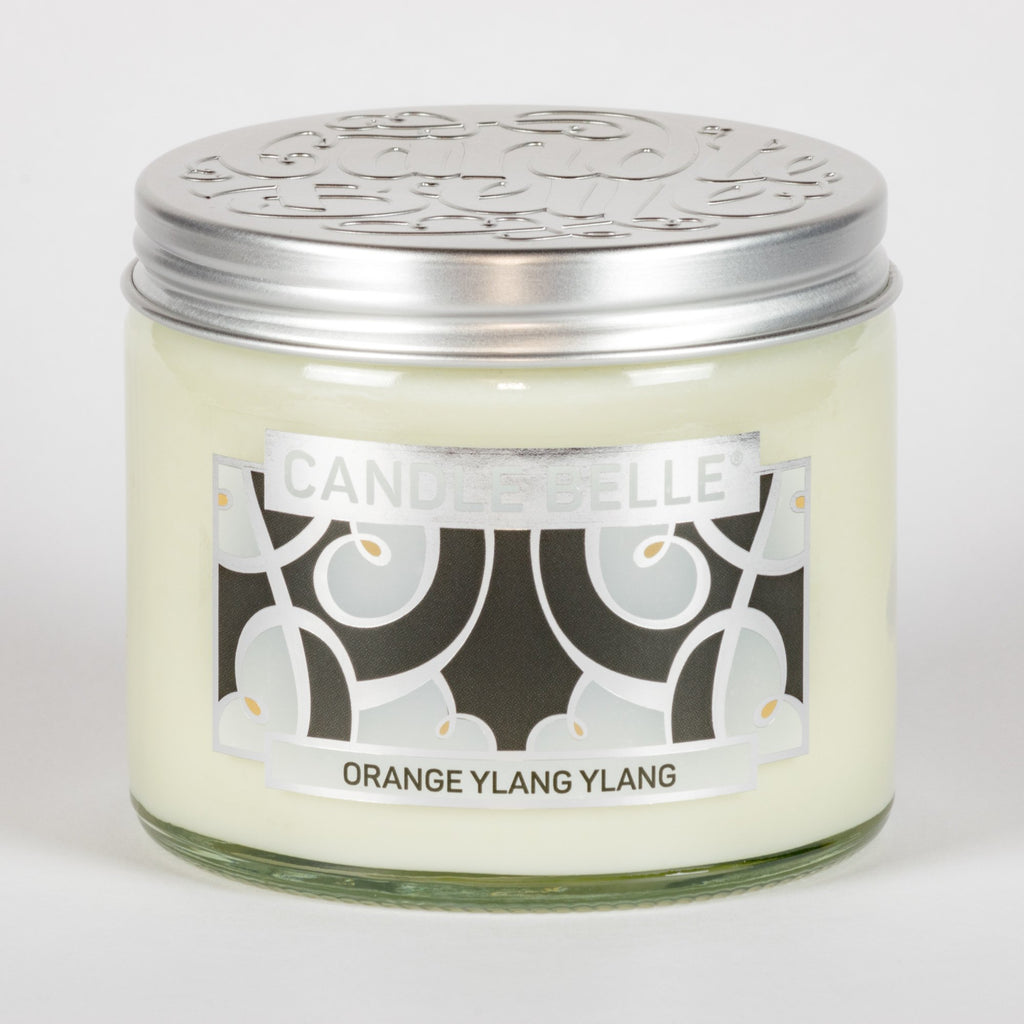 Candle Belle® DECO Orange Ylang Ylang Fragranced Twin Wick Jar Candle 240g