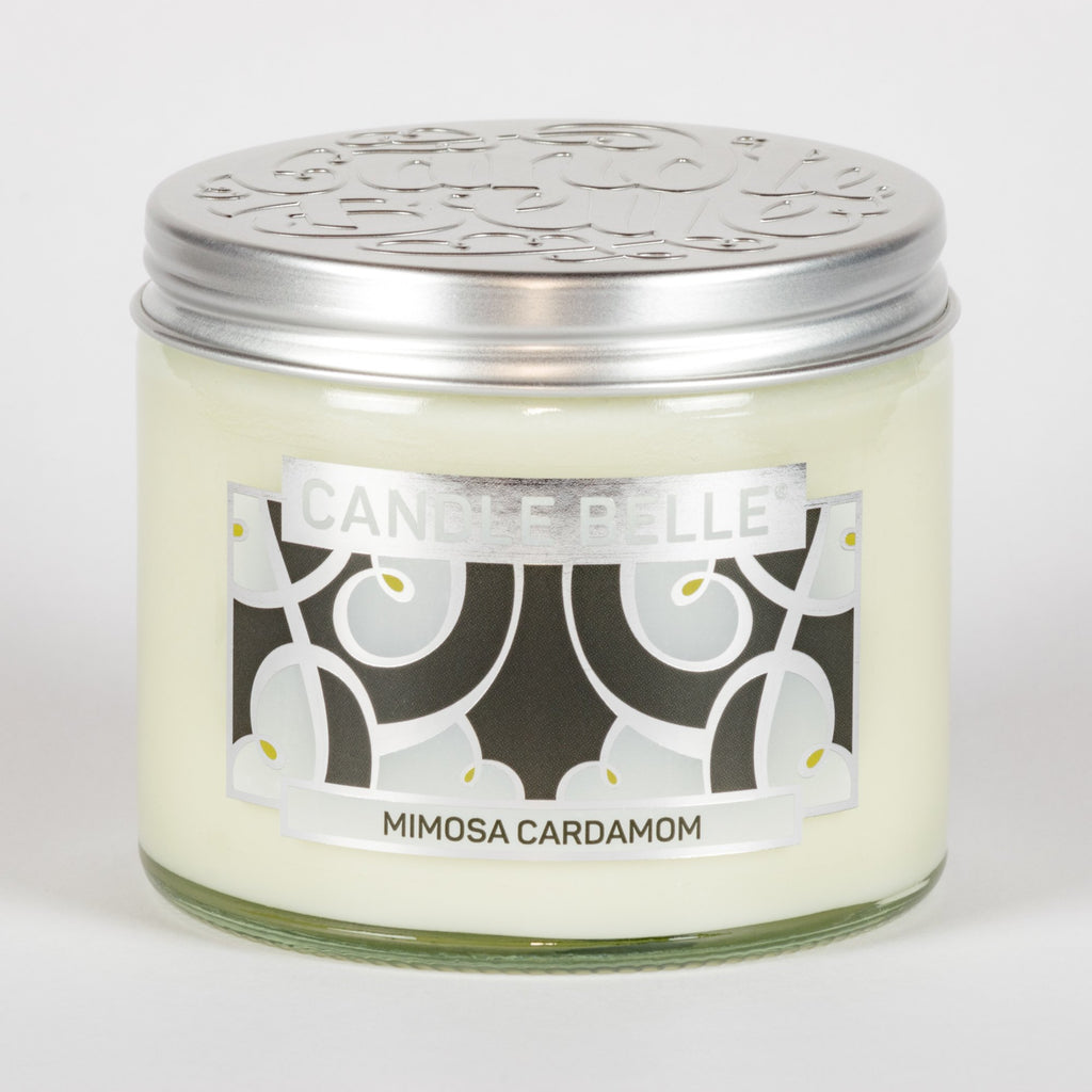 Candle Belle® DECO Mimosa Cardamom Fragranced Twin Wick Jar Candle 240g