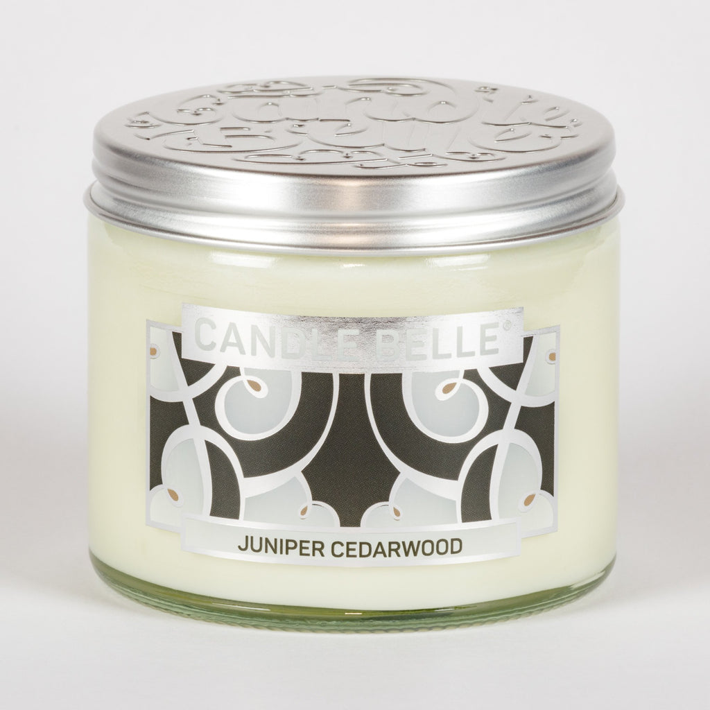 Candle Belle® DECO Juniper Cedarwood Fragranced Twin Wick Jar Candle 240g