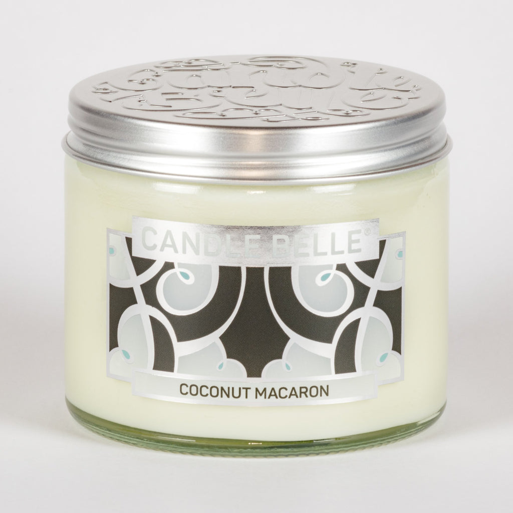 Candle Belle® DECO Coconut Macaron Fragranced Twin Wick Jar Candle 240g