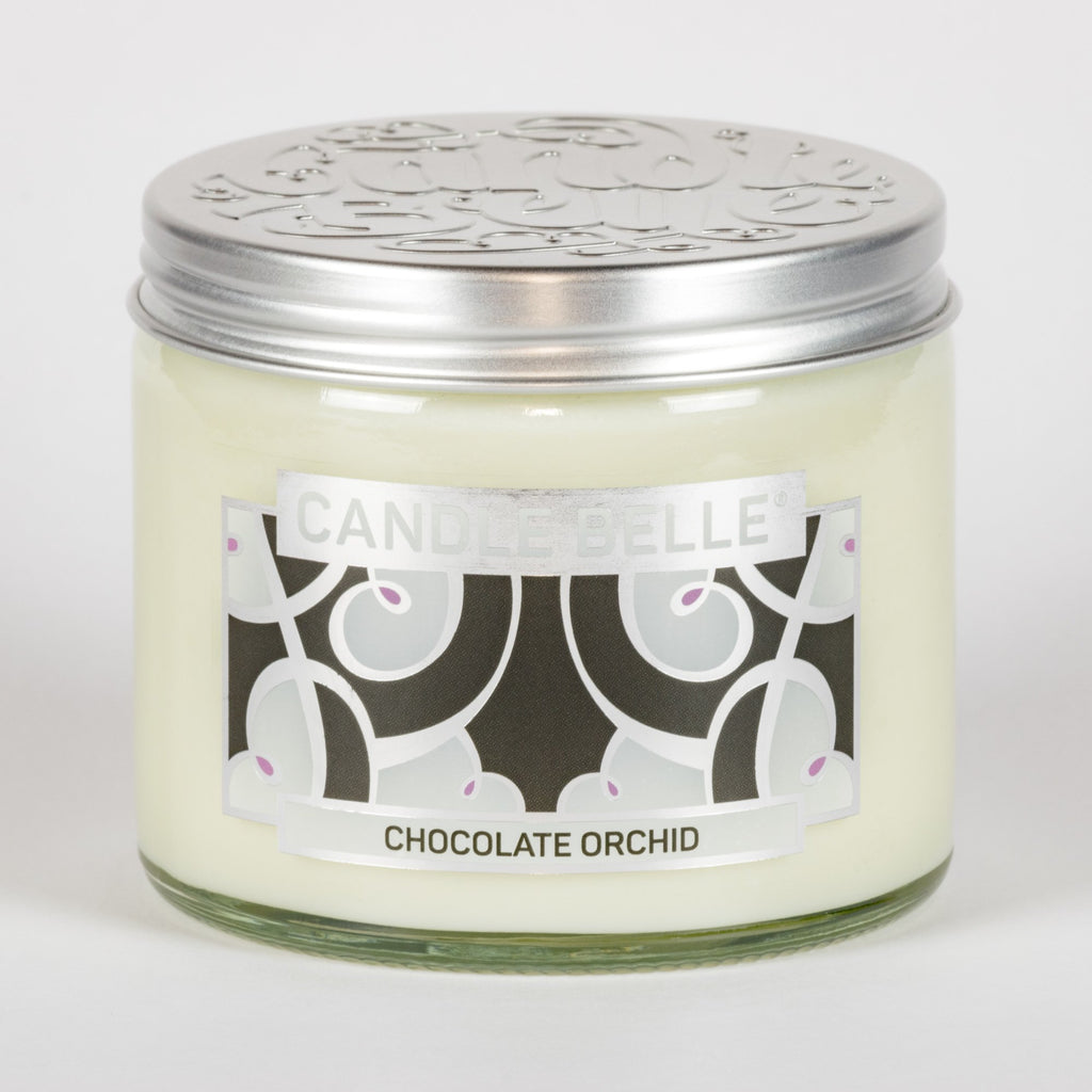 Candle Belle® DECO Chocolate Orchid Fragranced Twin Wick Jar Candle 240g
