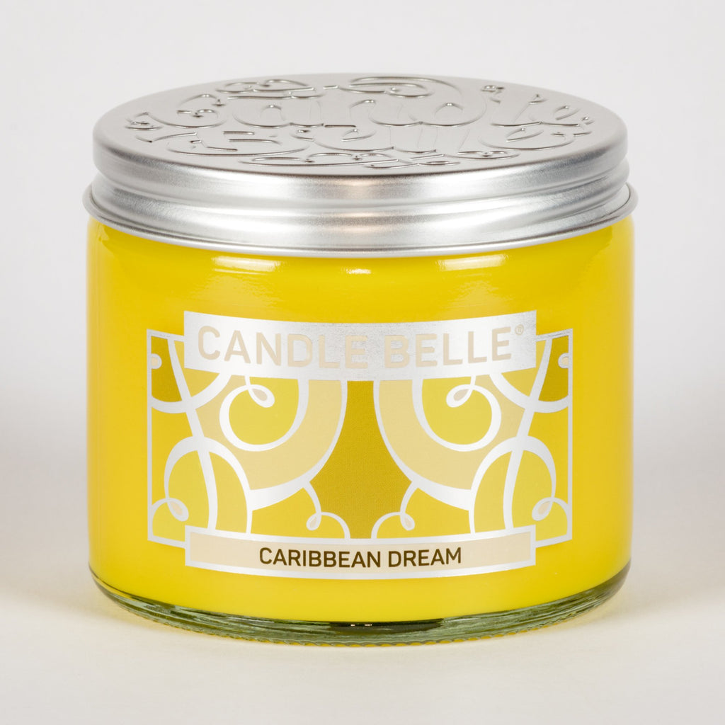 Candle Belle® Caribbean Dream Fragranced Twin Wick Jar Candle 240g