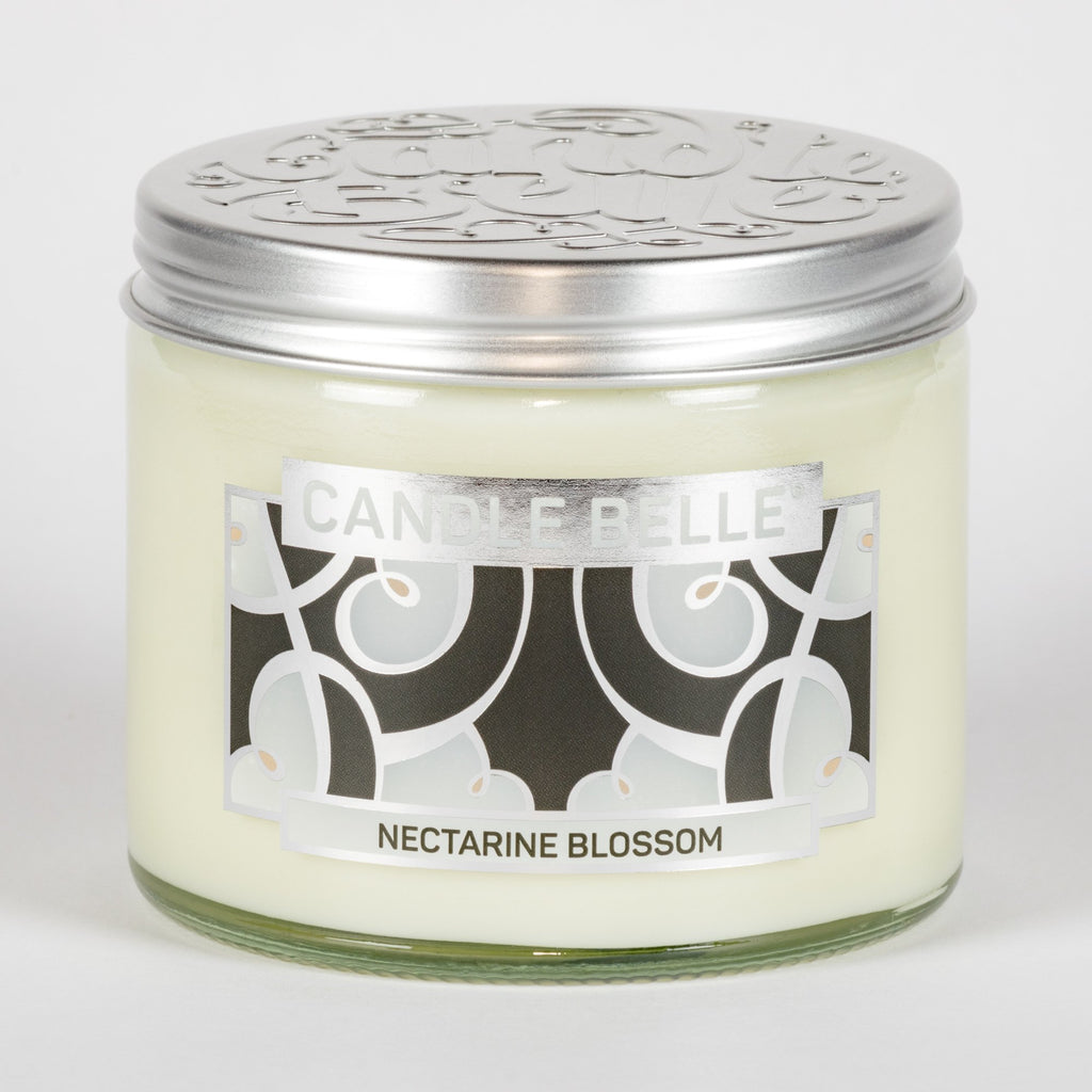 Candle Belle® DECO Nectarine Blossom Fragranced Twin Wick Jar Candle 240g