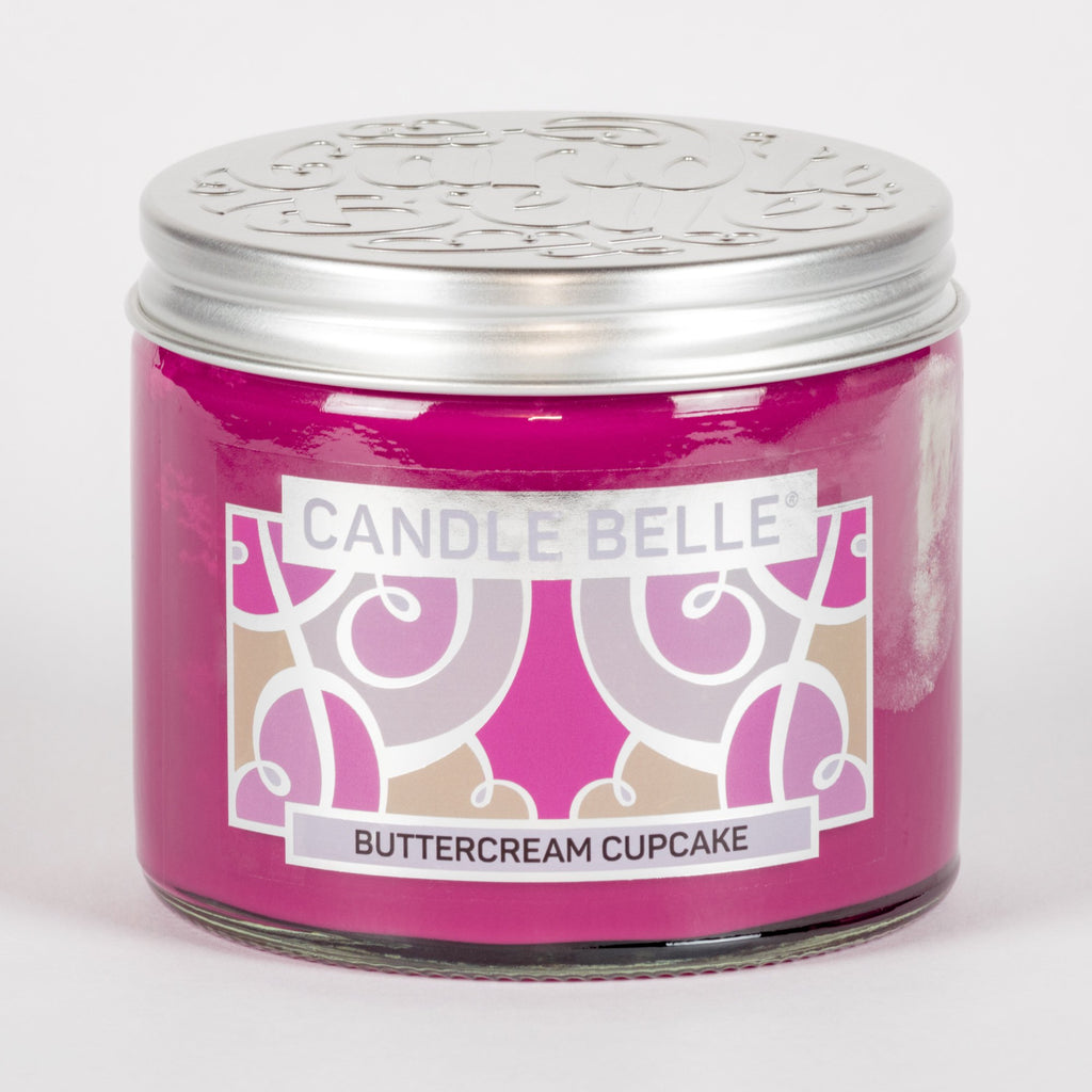 Candle Belle® Buttercream Cupcake Fragranced Twin Wick Jar Candle 240g