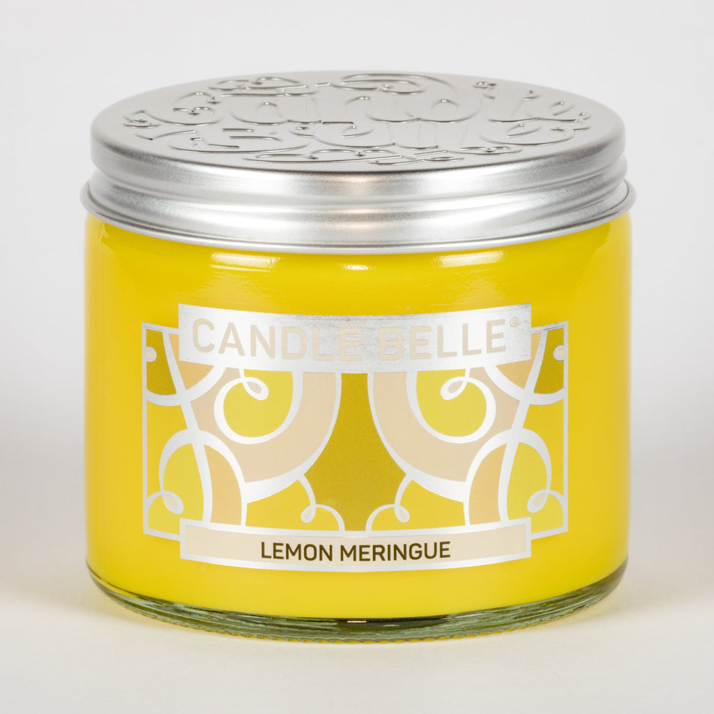 Candle Belle® Lemon Meringue Fragranced Twin Wick Jar Candle 240g