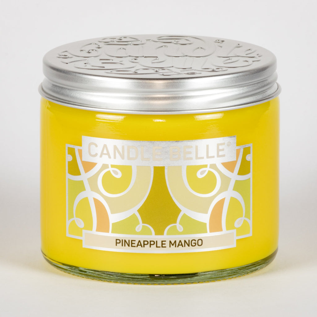 Candle Belle® Pineapple Mango Fragranced Twin Wick Jar Candle 240g