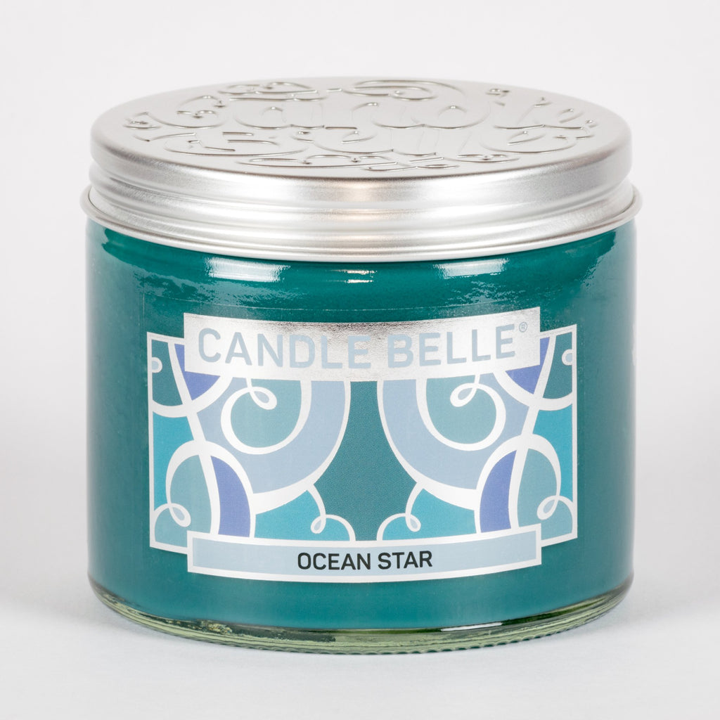 Candle Belle® Ocean Star Fragranced Twin Wick Jar Candle 240g