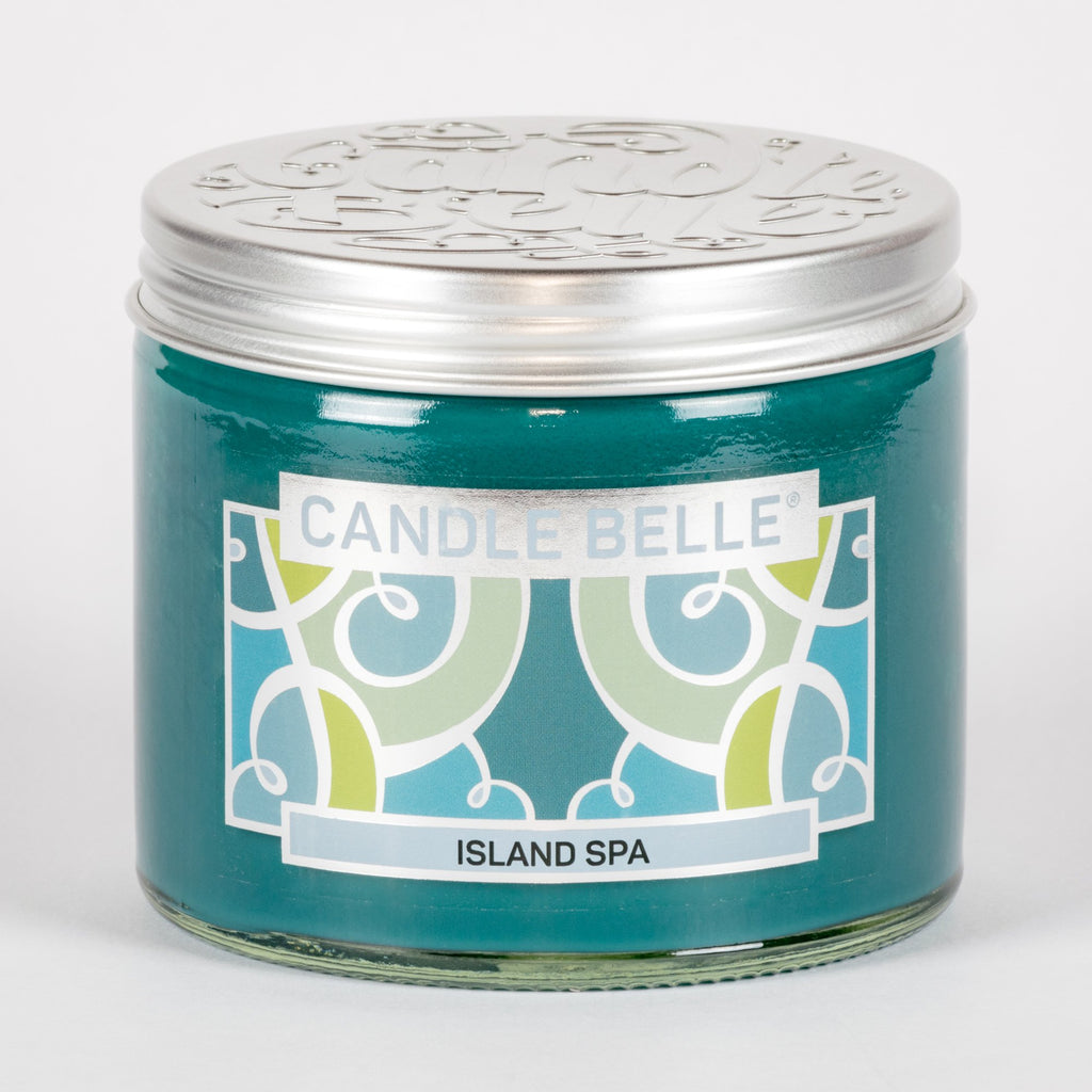 Candle Belle® Island Spa Fragranced Twin Wick Jar Candle 240g