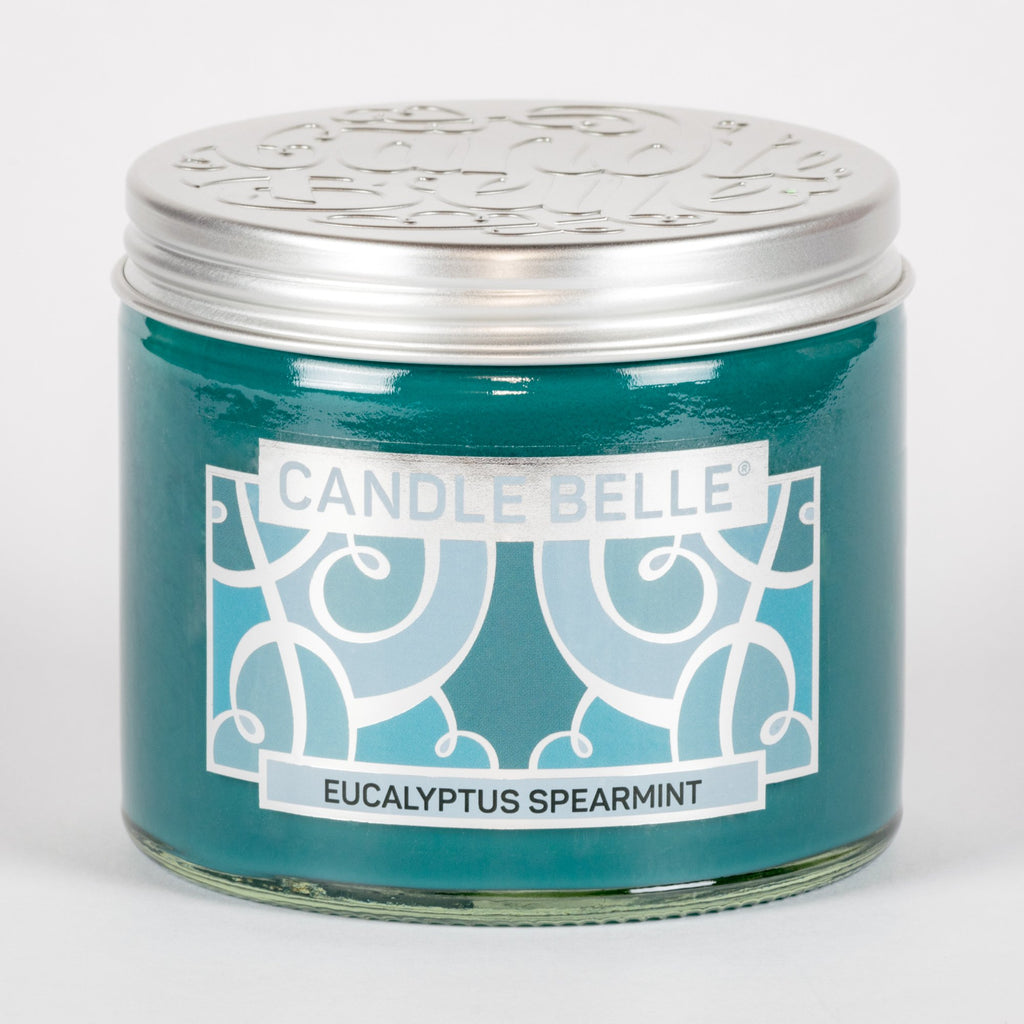Candle Belle® Eucalyptus Spearmint Fragranced Twin Wick Jar Candle 240g