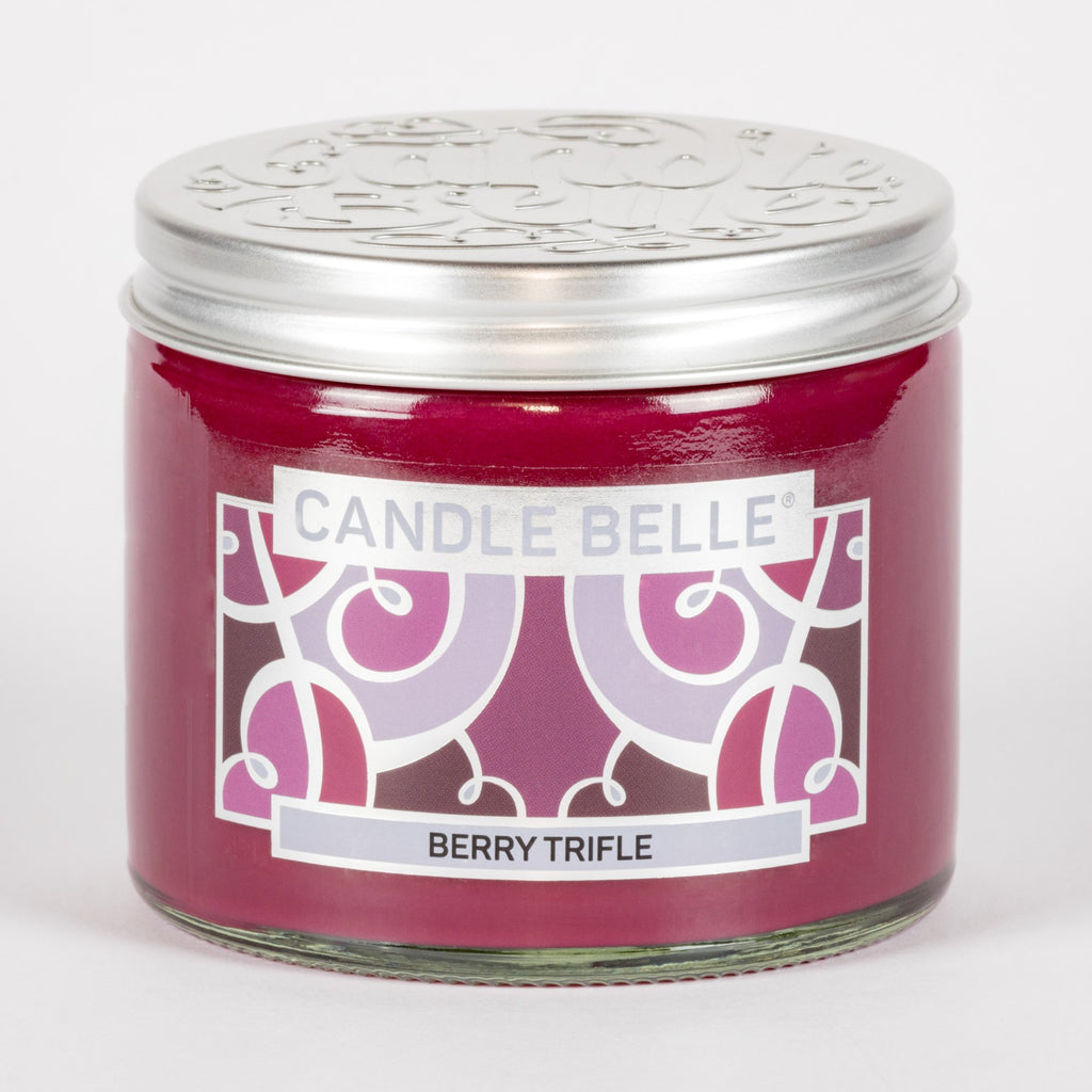 Candle Belle® Berry Trifle Fragranced Twin Wick Jar Candle 240g