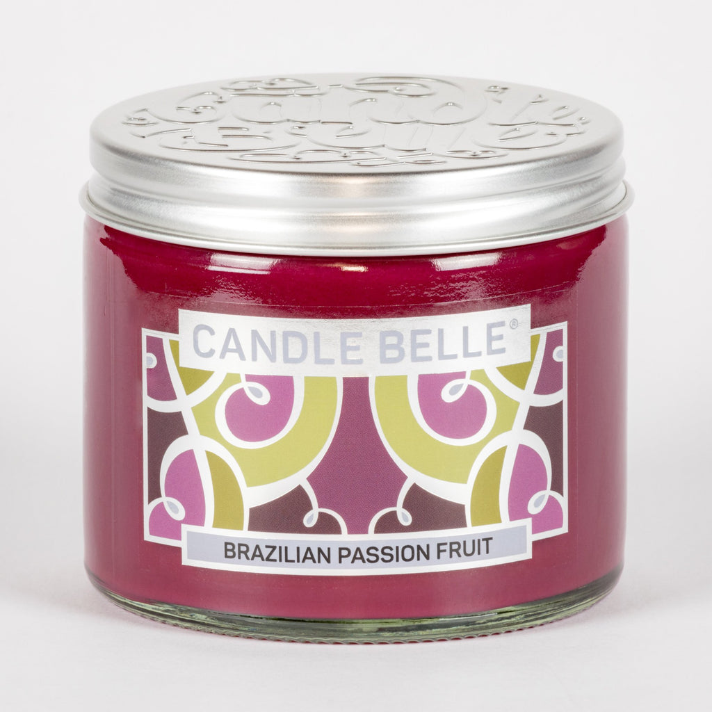 Candle Belle® Brazilian Passion Fruit Fragranced Twin Wick Jar Candle 240g