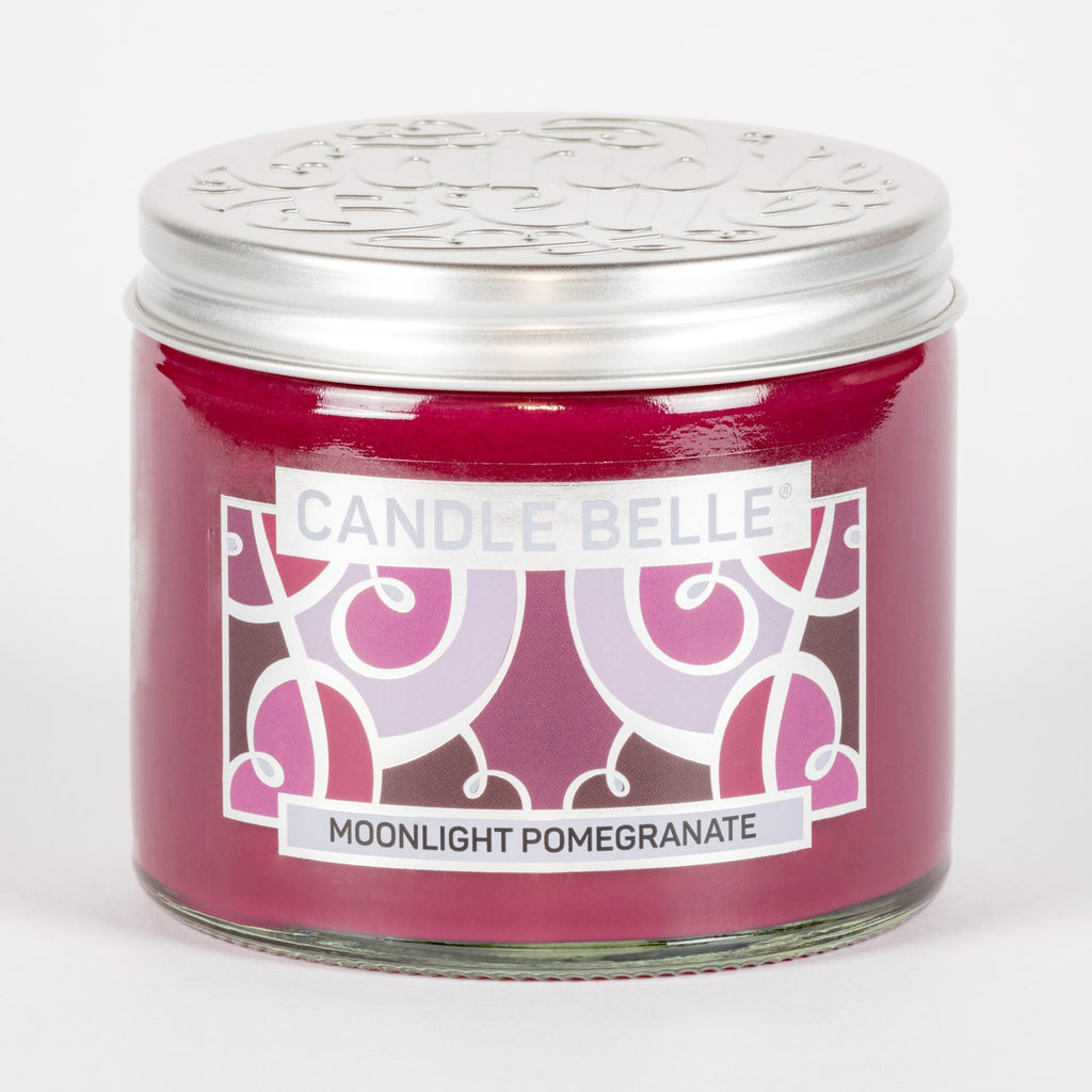 Candle Belle® Moonlight Pomegranate Fragranced Twin Wick Jar Candle 240g
