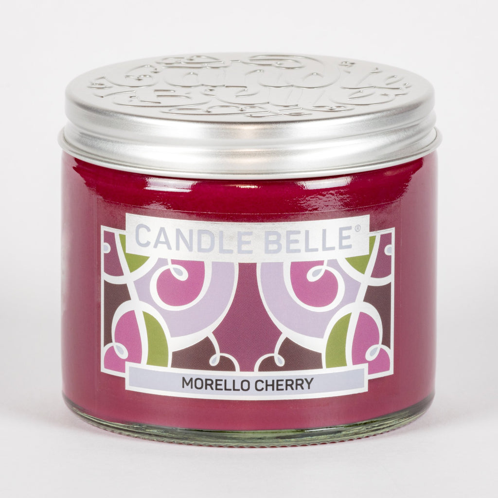 Candle Belle® Morello Cherry Fragranced Twin Wick Jar Candle 240g