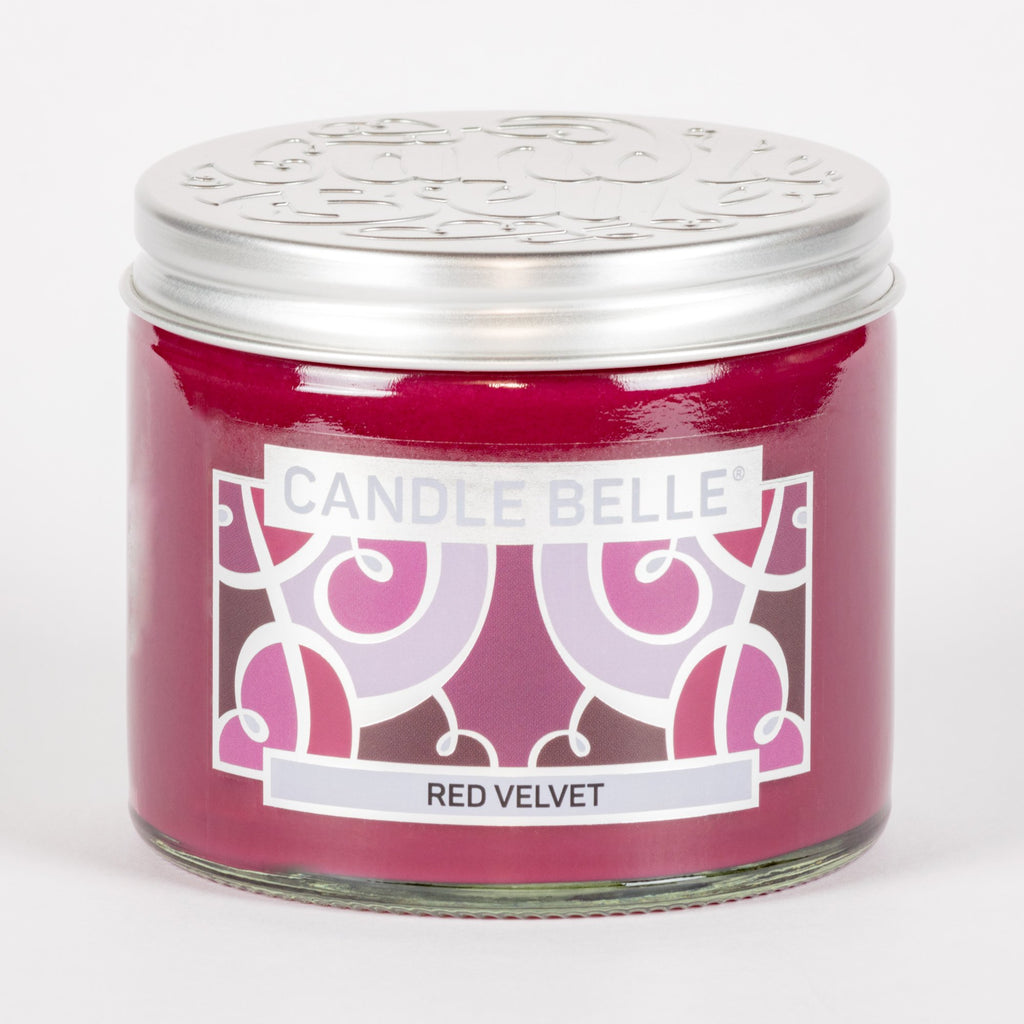 Candle Belle® Red Velvet Fragranced Twin Wick Jar Candle 240g