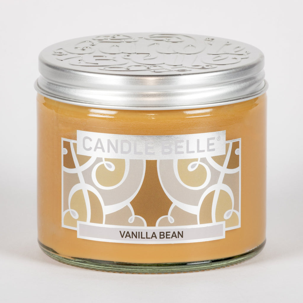Candle Belle® Vanilla Bean Fragranced Twin Wick Jar Candle 240g