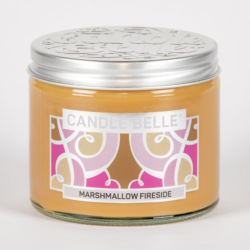 Candle Belle® Marshmallow Fireside Fragranced Twin Wick Jar Candle 240g