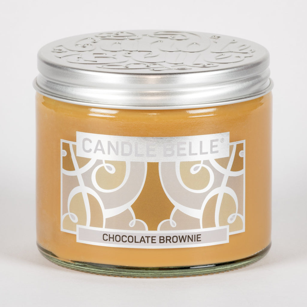 Candle Belle® Chocolate Brownie Fragranced Twin Wick Jar Candle 240g