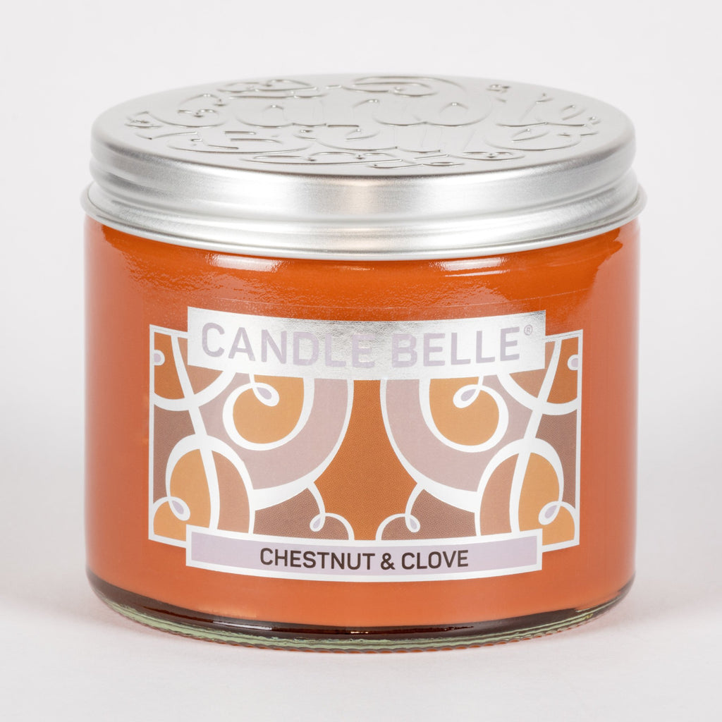 Candle Belle® Chestnut & Clove Fragranced Twin Wick Jar Candle 240g