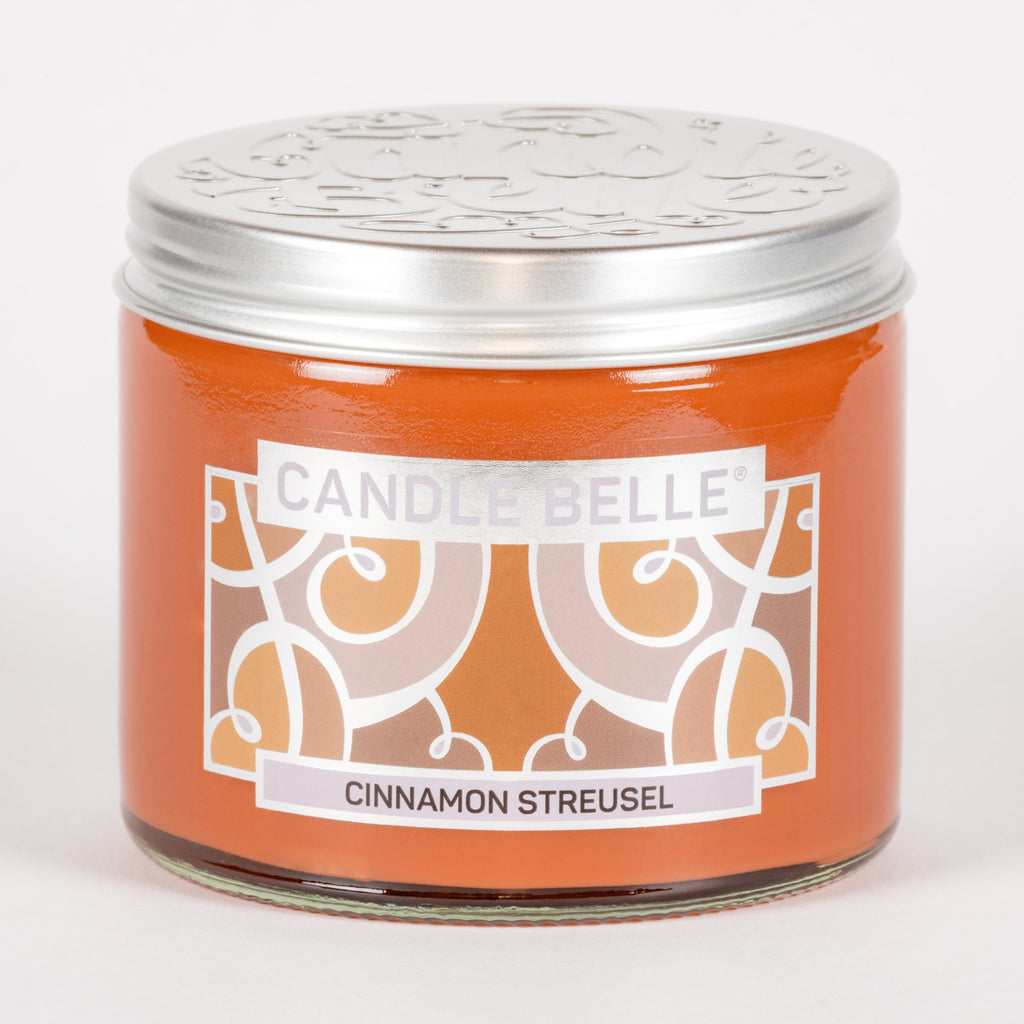 Candle Belle® Cinnamon Streusel Fragranced Twin Wick Jar Candle 240g