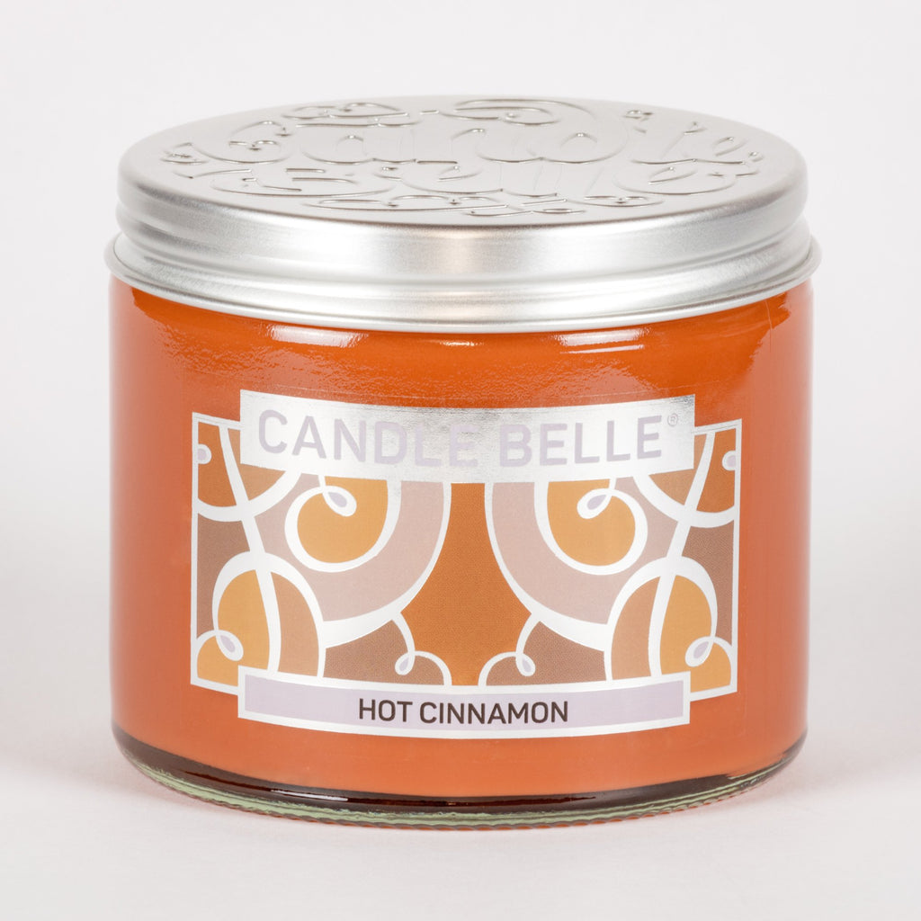 Candle Belle® Hot Cinnamon Fragranced Twin Wick Jar Candle 240g