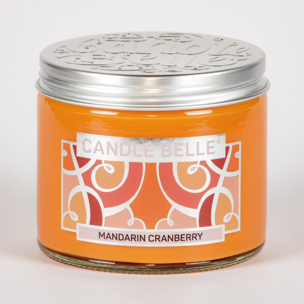 Candle Belle® Mandarin Cranberry Fragranced Twin Wick Jar Candle 240g