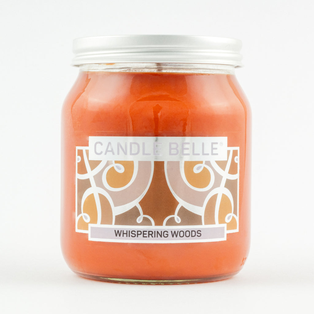 Candle Belle® Whispering Woods Fragranced Single Wick Jar Candle 280g