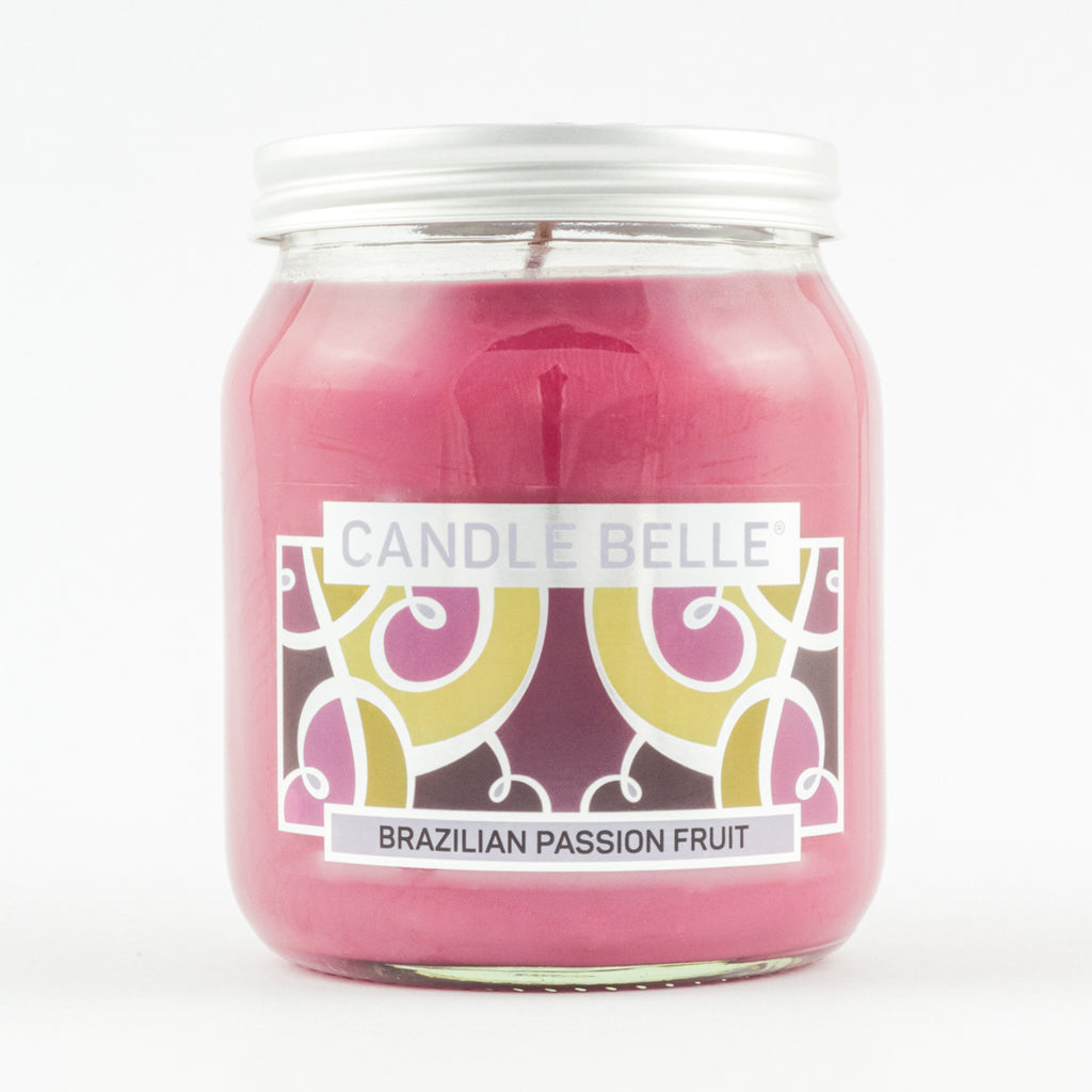 Candle Belle® Brazilian Passion Fruit Fragranced Single Wick Jar Candle 280g