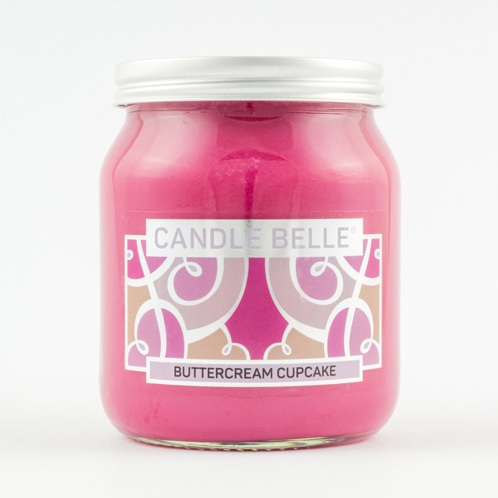 Candle Belle® Buttercream Cupcake Fragranced Single Wick Jar Candle 280g