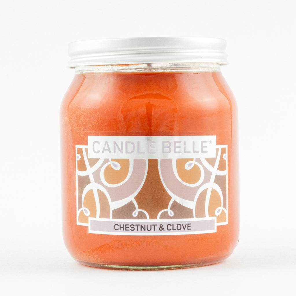 Candle Belle® Chestnut & Clove Fragranced Single Wick Jar Candle 280g