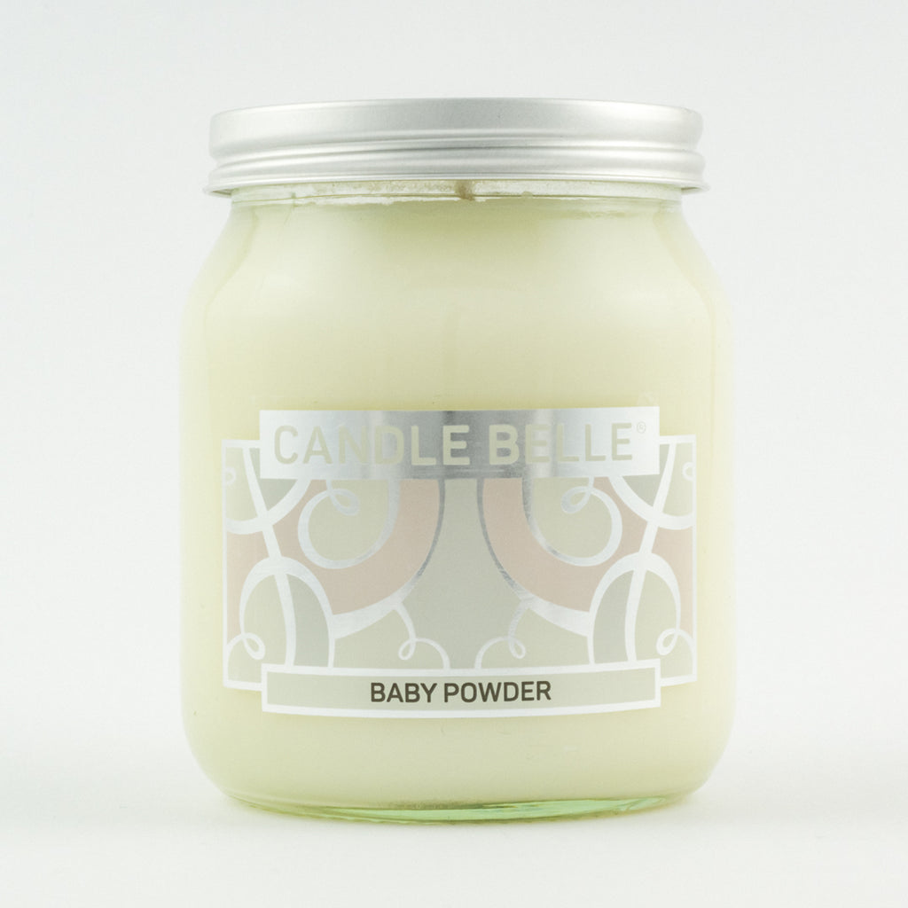 Candle Belle® Baby Powder Fragranced Single Wick Jar Candle 280g