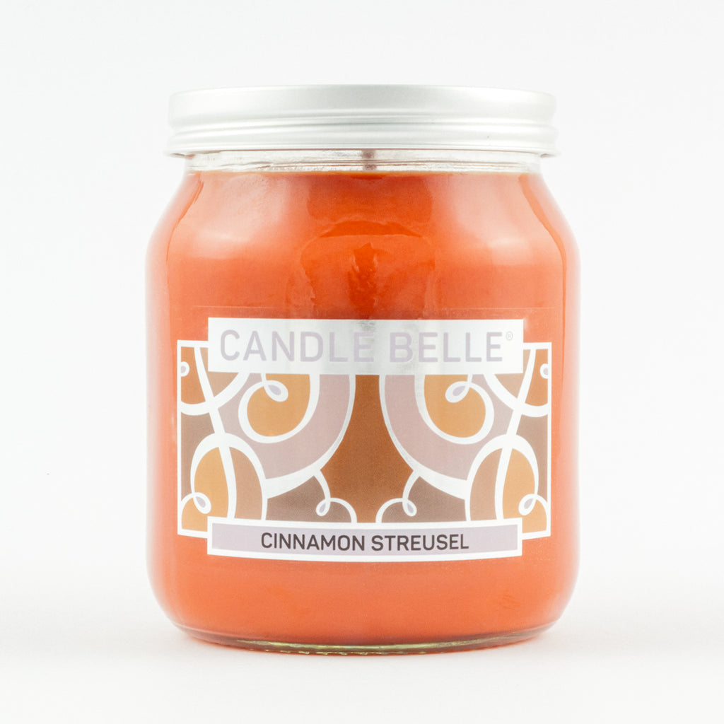 Candle Belle® Cinnamon Streusel Fragranced Single Wick Jar Candle 280g