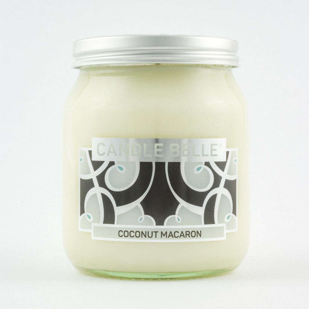 Candle Belle® DECO Coconut Macaron Fragranced Single Wick Jar Candle 280g
