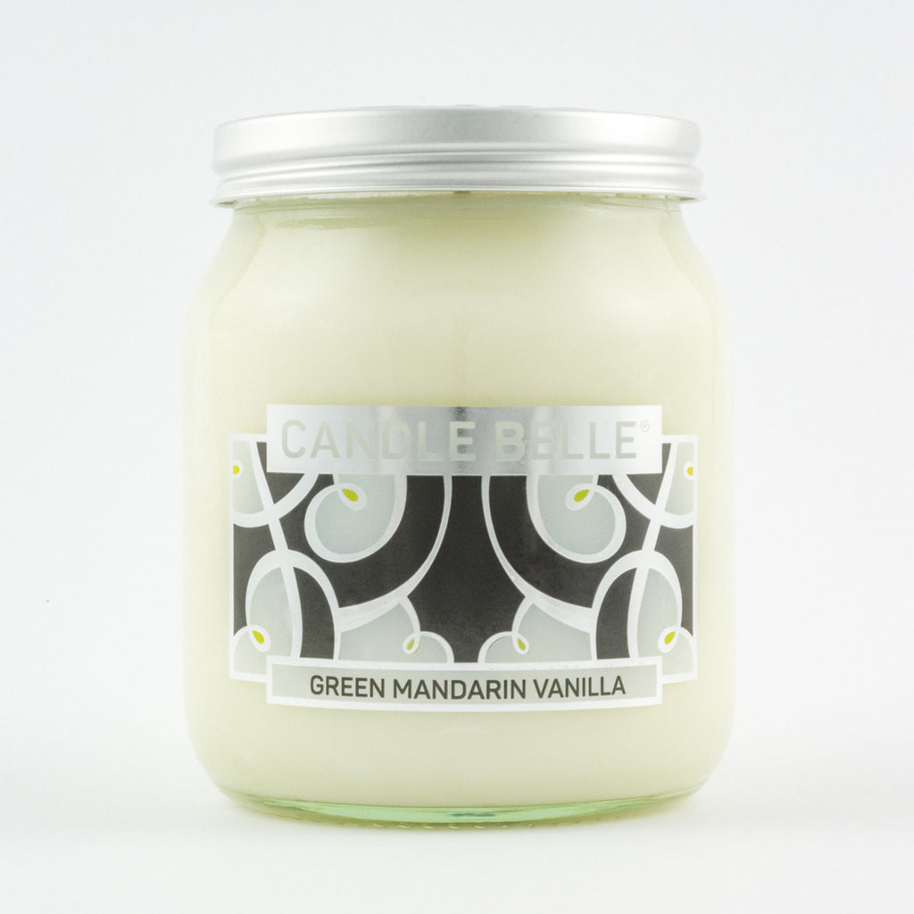 Candle Belle® DECO Green Mandarin Vanilla Fragranced Single Wick Jar Candle 280g