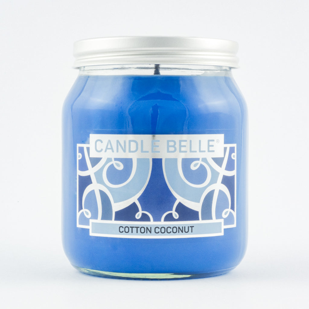 Candle Belle® Cotton Coconut Fragranced Single Wick Jar Candle 280g