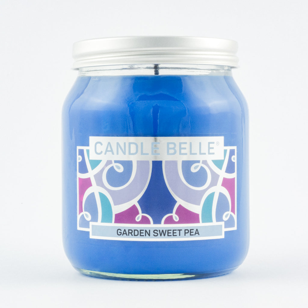 Candle Belle® Garden Sweet Pea Fragranced Single Wick Jar Candle 280g