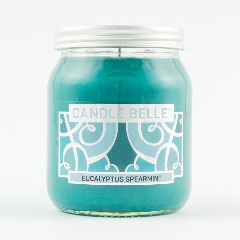Candle Belle® Eucalyptus Spearmint Fragranced Single Wick Jar Candle 280g