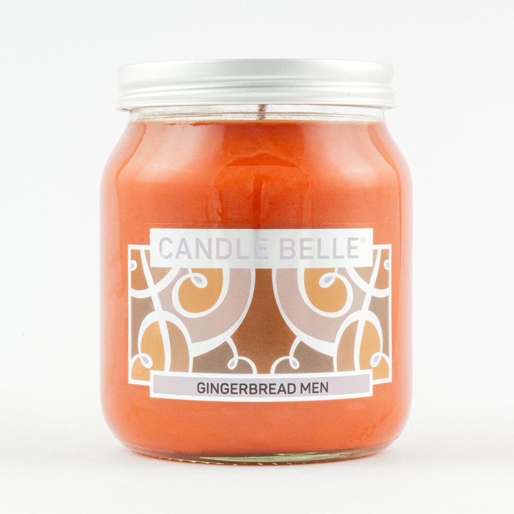 Candle Belle® Gingerbread Men Fragranced Single Wick Jar Candle 280g