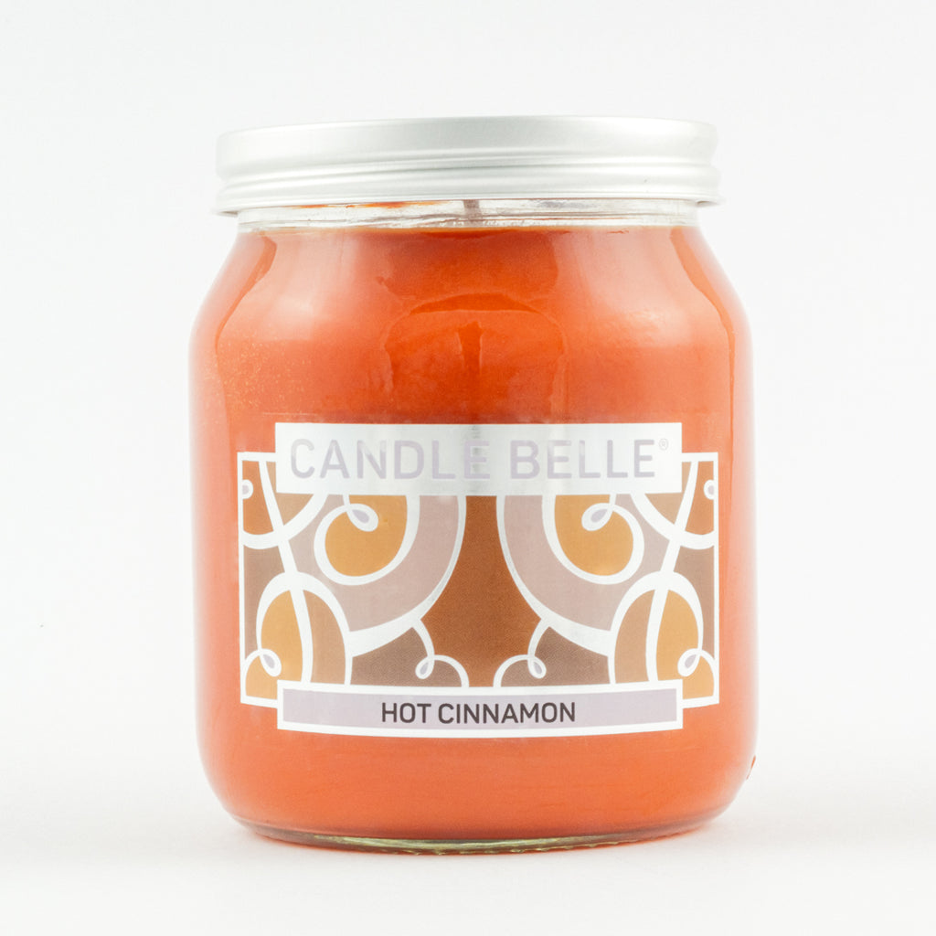 Candle Belle® Hot Cinnamon Fragranced Single Wick Jar Candle 280g
