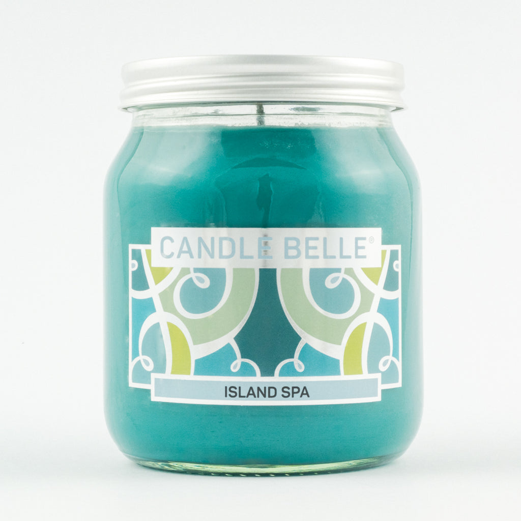 Candle Belle® Island Spa Fragranced Single Wick Jar Candle 280g
