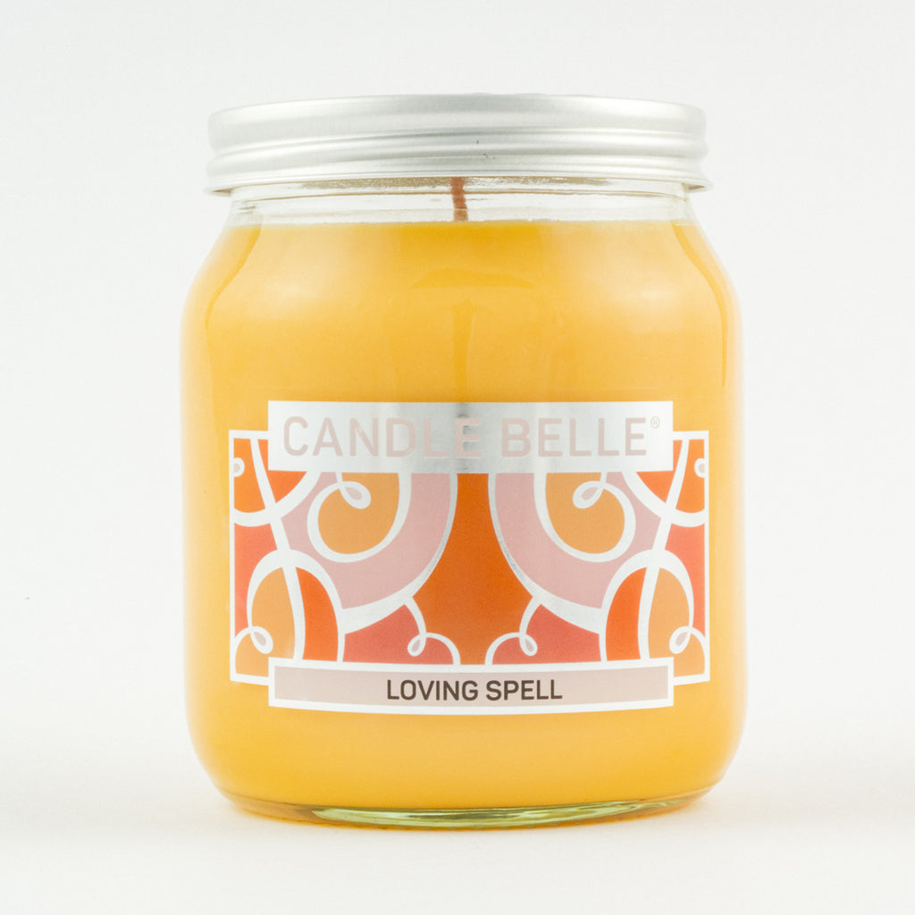 Candle Belle® Loving Spell Fragranced Single Wick Jar Candle 280g