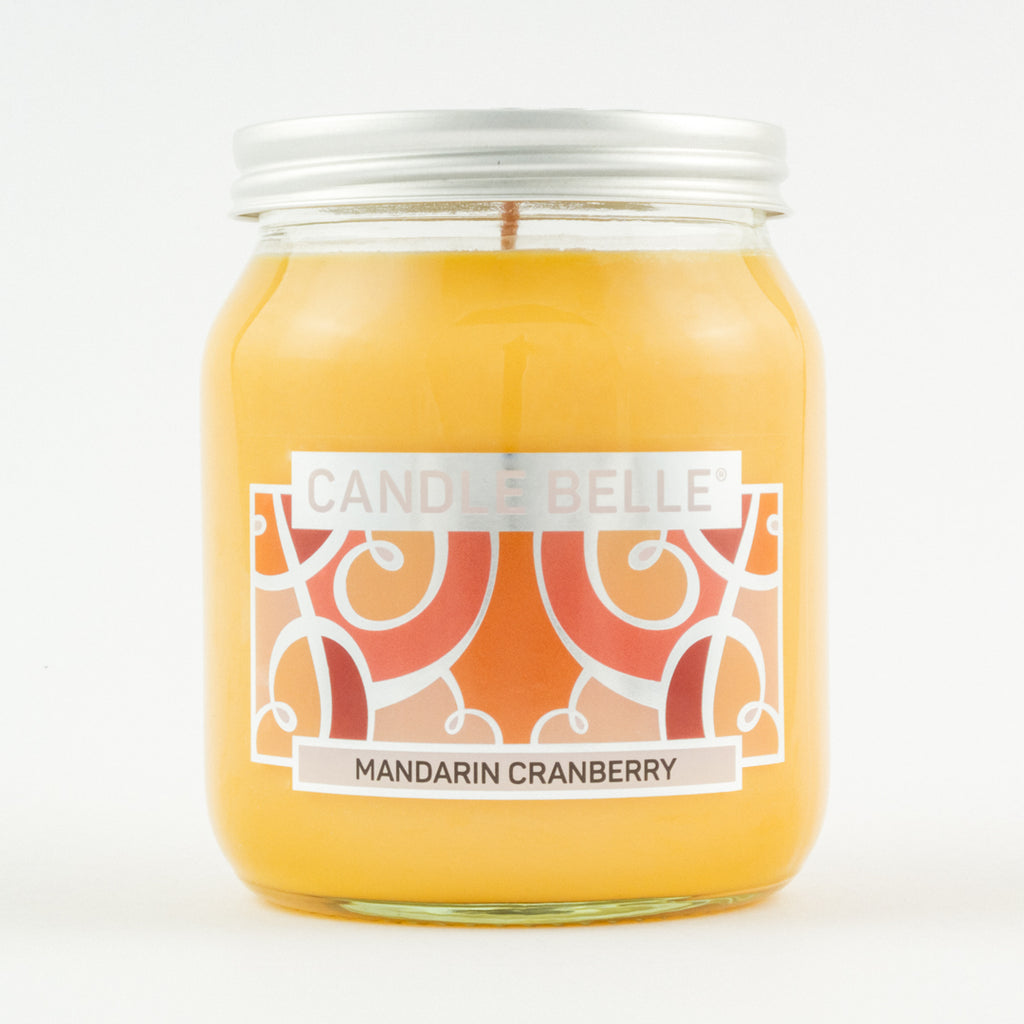 Candle Belle® Mandarin Cranberry Fragranced Single Wick Jar Candle 280g