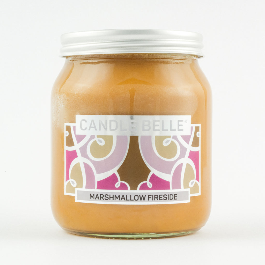 Candle Belle® Marshmallow Fireside Fragranced Single Wick Jar Candle 280g