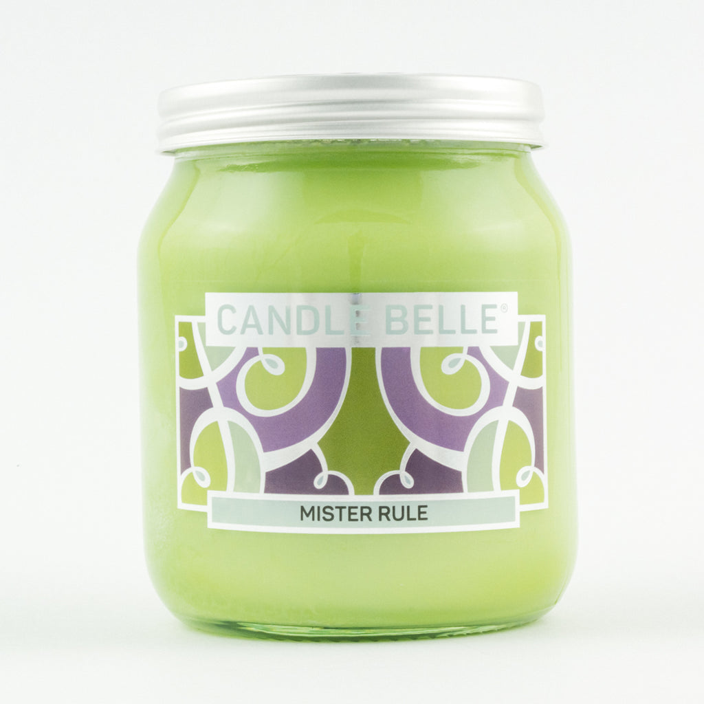 Candle Belle® Mister Rule Fragranced Single Wick Jar Candle 280g