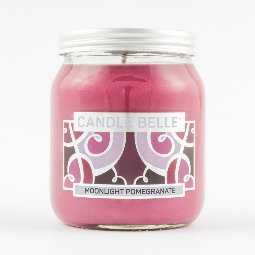 Candle Belle® Moonlight Pomegranate Fragranced Single Wick Jar Candle 280g